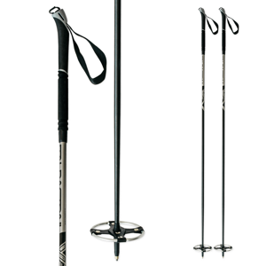 Backcountry palice na bežky ITALBASTONI BC Nordic Black Čierna 130 cm