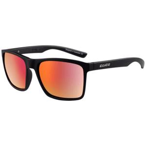 Slnečné okuliare DIRTY DOG Droid Satin Black Grey/Red Fusion Polarised Čierna