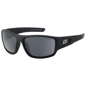 Slnečné okuliare DIRTY DOG Muffler Satin Black/Grey Polarised Čierna