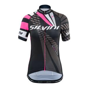 Cyklistický dres SILVINI Team WD1402 Black/Pink Čierna L