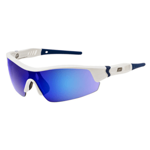Slnečné okuliare DIRTY DOG Sport Edge White Blue Gray/Blue Fusion Mirror Biela