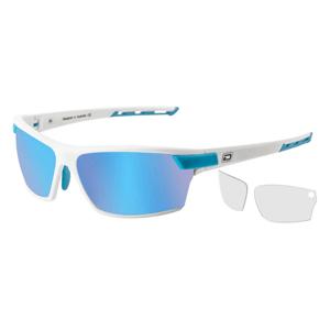 Slnečné okuliare DIRTY DOG Sport Evolve X1 Satin White Grey/Ice Blue Mirror Polarised & Clear Biela