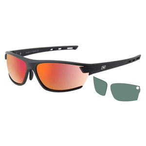 Slnečné okuliare DIRTY DOG Sport Evolve X2 Satin Black Grey/Red Fusion Mirror Polarised & Grey Polarised Čierna