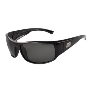 Slnečné okuliare DIRTY DOG Muzzle Shiny Black/Green Polarised Čierna
