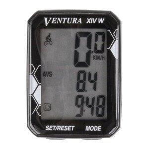 Cyklocomputer VENTURA XIV W Čierna