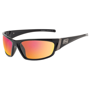 Slnečné okuliare DIRTY DOG Stoat Black Grey/Red Fusion Mirror Polarised Čierna