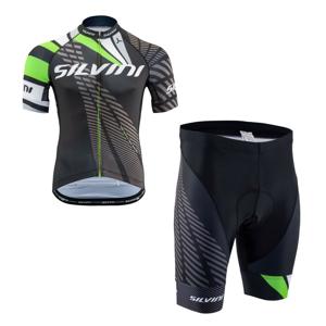 Cyklistický set SILVINI Team Green Zelená 3XL