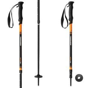 Trekingové palice KOMPERDELL Wild Rambler 105-140 cm Oranžová Nastaviteľné