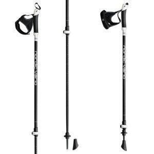 Nordic walking palice HIGH COLORADO Nordic Vario 105-135 cm Čierna Nastaviteľné