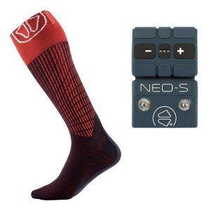 Vyhrievané ponožky SIDAS Ski Heat s batériou NEO S 3,7 V / 1400 mAh Čierno-červená 45-47