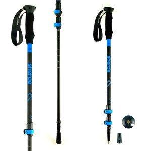 Trekingové palice HIGH COLORADO Sherpa Black/Blue 105 - 135 cm Modrá Nastaviteľné
