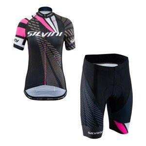 Cyklistický set SILVINI Team Pink Ružová S