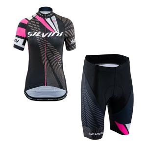 Cyklistický set SILVINI Team Pink Ružová L