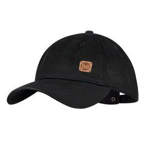 Šiltovka BUFF Baseball Cap Solid Black Čierna
