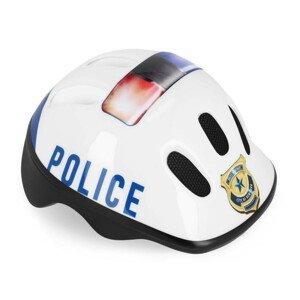 Detská prilba Police s otočným uťahovaním Biela 49-56 cm