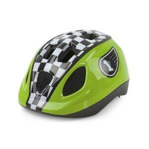 Detská prilba Race Green s otočným uťahovaním Zelená 46-53 cm