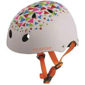 Detská prilba BMX Urban Radical Biela s otočným uťahovaním Biela 53-55 cm