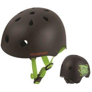 Detská prilba BMX Urban Radical Čierna s otočným uťahovaním Čierna 53-55 cm