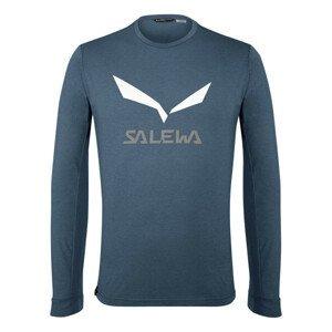 Tričko SALEWA Solidlogo Dry Blue Modrá XXL