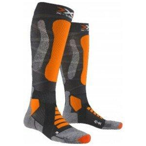 Podkolienky X-SOCKS Ski Touring Silver 4.0 Orange Oranžová 42-44