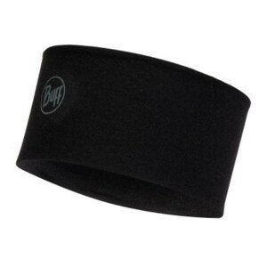 Čelenka BUFF Merino Headband Solid Black Čierna UNI
