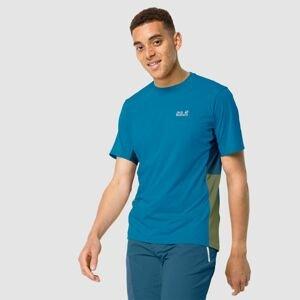 Funkčné tričko JACK WOLFSKIN Narrows Blue Modrá L