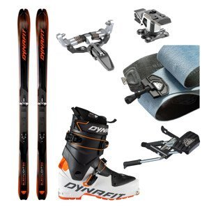 Skialpové lyže DYNAFIT Blacklight 80 s pásmi + viazanie s brzdami Superlite 150 + lyžiarky Speed