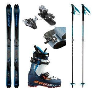 Skialpové lyže DYNAFIT Blacklight 88 s pásmi + viazanie s brzdami Radical + lyžiarky TLT8 Expedition CR + palice Speed Vario 2.0