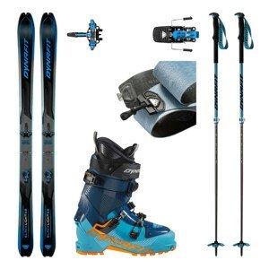 Skialpové lyže DYNAFIT Blacklight 88 s pásmi + viazanie s brzdami Radical + lyžiarky Seven Summits + palice Tour Vario 2.0