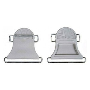 Špičky na stúpacie pásy CONTOUR Sivá XL