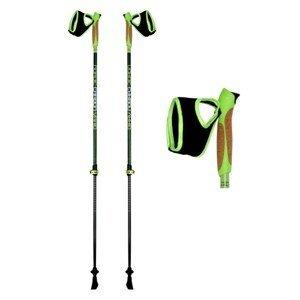 Nordic walking palice HIGH COLORADO Nordic Carbon Vario 105-135 cm Zelená Nastaviteľné