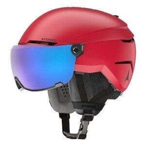 Lyžiarska prilba ATOMIC Savor Visor Stereo Red Červená 55-59 cm