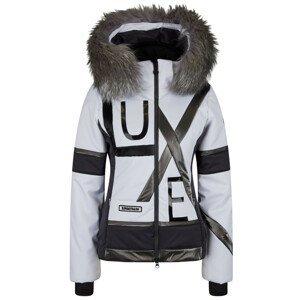 Dámska bunda SPORTALM Mikes s pravou kožušinou na kapucni Čierno-biela L