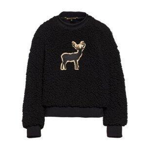 Plyšový sveter GOLDBERGH Deer Teddy Black Čierna M