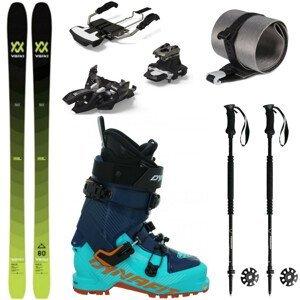 Skialpinistický set VÖLKL Rise 80 s pásmi + lyžiarky Dynafit W + palice