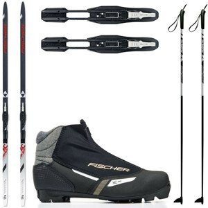 Dámsky bežkový set Fischer Sports Crown s viazaním + obuv + palice