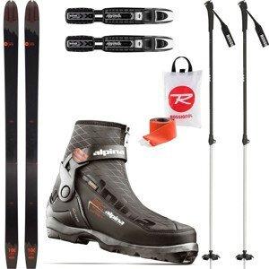Backcountry set ROSSIGNOL BC 100 so stúpacími pásmi + viazanie + topánky Outlander + palice