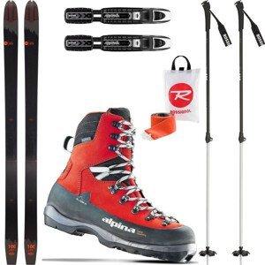 Backcountry set ROSSIGNOL BC 100 so stúpacími pásmi + viazanie + topánky Alaska + palice