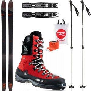 Backcountry set ROSSIGNOL BC 100 so stúpacími pásmi + viazanie + topánky Alaska Heat + palice