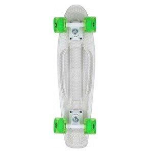 Skateboard STUF Flash Retro Transparentná