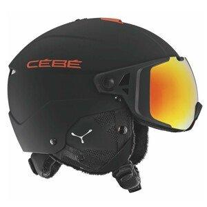 Lyžiarska prilba CÉBÉ Element Visor Matt Black Red Čierna 59-61 cm