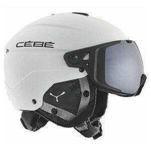 Lyžiarská prilba CÉBÉ Element Visor Matt White Black Čierno-biela 56-59 cm