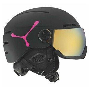 Lyžiarska prilba CÉBÉ Fireball Matt Black Pink Čierna 53-58 cm