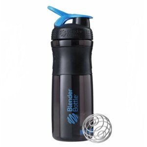 Športová fľaša Blender Bottle SportMixer Grip Black/Cyan 820 ml Čierno-modrá