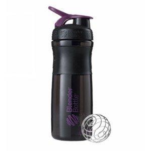 Športová fľaša Blender Bottle SportMixer Grip Black/Plum 820 ml Čierno-fialová