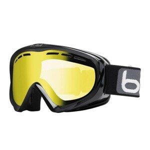 Lyžiarske okuliare BOLLÉ Y6 OTG Shiny Black/Lemon Čierno-žltá Normálna veľkosť