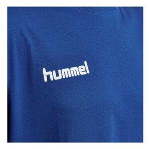 Tričko HUMMEL GO Cotton Blue Modrá M