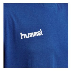 Tričko HUMMEL GO Cotton Blue Modrá L