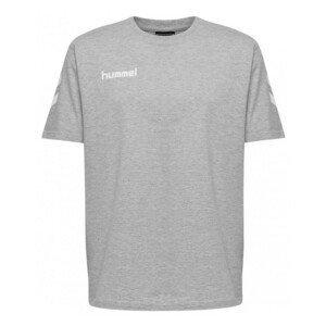 Tričko HUMMEL GO Cotton Grey Sivá L