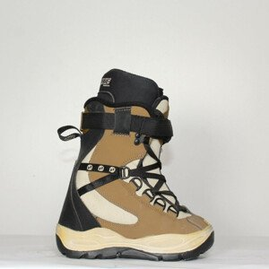 Jazdené Snowboardové topánky DEELUXE Brown/White/Black 22.0